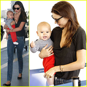 Miranda Kerr & Flynn Take Flight