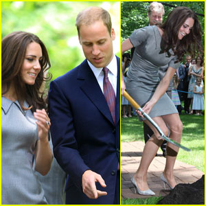 Prince William & Kate: Tree Planting Ceremony!