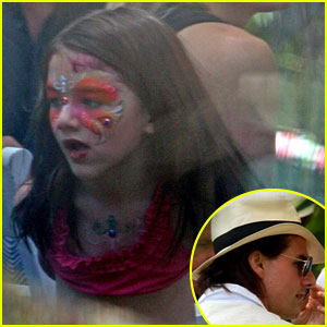 Suri Cruise: Face Painted on Tom's Birthday!