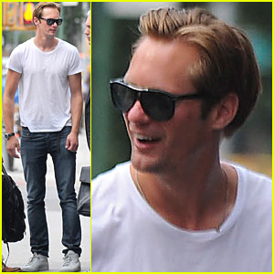 Alexander Skarsgard Goes Back to Gemma