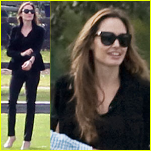 Angelina Jolie: Helicopter Ride in Richmond!