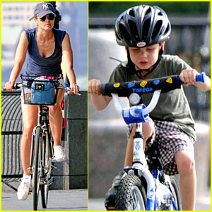 Bridget Moynahan: Bike Riding with McG & John!