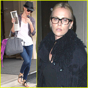 Charlize Theron Noshes at Nobu