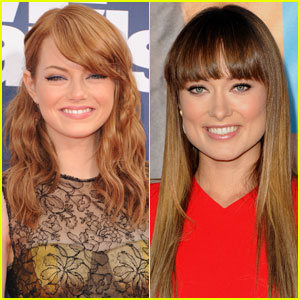 Emma Stone & Olivia Wilde: Revlon's Newest Faces!