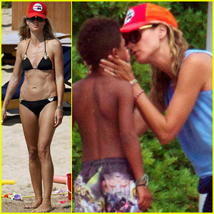 Heidi Klum: Bikini Beach Time with the Family!