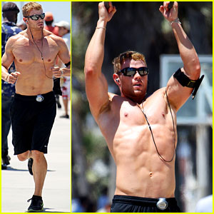 Kellan Lutz: Shirtless Workout & 'Arena' Trailer!