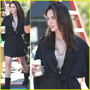 Megan Fox: Coffee Break on 'Forty' Set