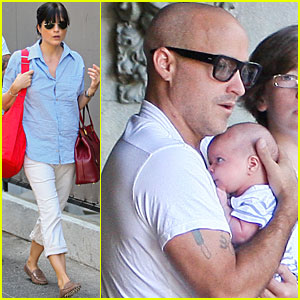 Selma Blair: Chateau Marmont with Baby Arthur!