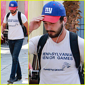Shia LaBeouf Works It Out