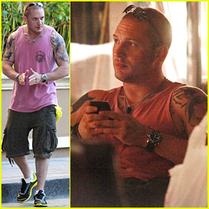 Tom Hardy: Grove with a Guy Friend!