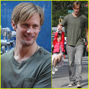 Alexander Skarsgard Checks Out Chinatown