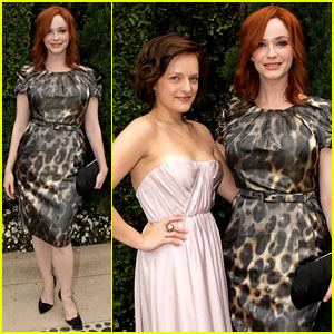 Christina Hendricks & Elisabeth Moss: 'Mad Men' Brunch!