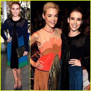 Emma Roberts & Jaime King: Jill Stuart Show Front Row!