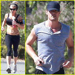 Fergie & Josh Duhamel Make a Run for It