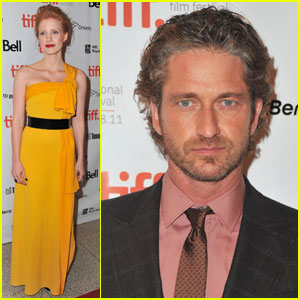 Gerard Butler &#038; Jessica Chastain Premiere 'Coriolanus'