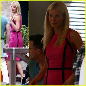 Gwyneth Paltrow: Pink Lady in Venice!