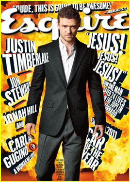 Justin Timberlake Covers 'Esquire' October 2011