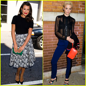 Lea Michele & Jaime King Catch Jason Wu's Fashion Show