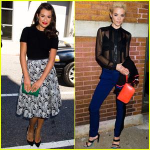 Lea Michele & Jaime King Catch Jason Wu's Fashion Show