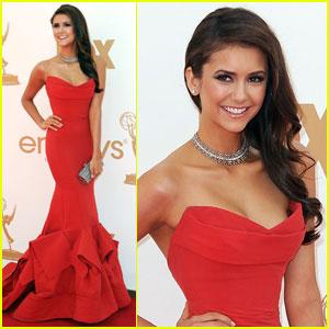 Nina Dobrev - Emmys 2011 Red Carpet