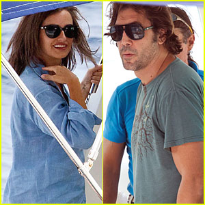 Penelope Cruz & Javier Bardem: Boating in Croatia