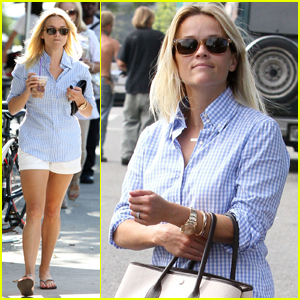 Reese Witherspoon: Sunny Brentwood Visit!