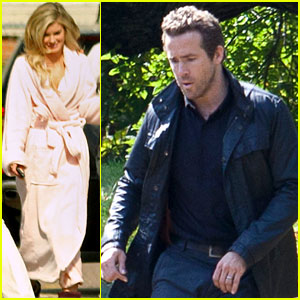 Ryan Reynolds: Cemetery Shoot with Marisa Miller!