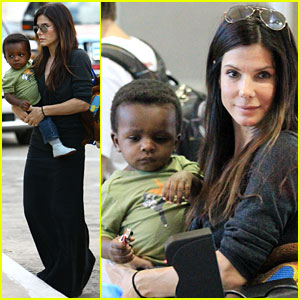 Sandra Bullock Gives Louis a Lift!