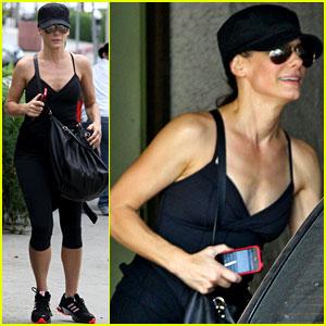 Sandra Bullock Works it Out