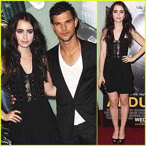 Taylor Lautner & Lily Collins: 'Abduction' UK Premiere!