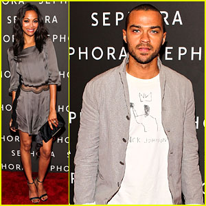 Zoe Saldana & Jesse Williams: Sephora Opening!