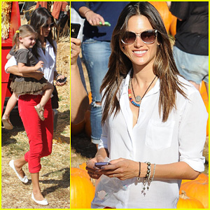 Alessandra Ambrosio: Pumpkin Picking with Anja!