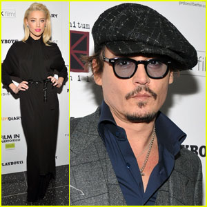 Johnny Depp & Amber Heard Premiere 'Rum Diary' in NYC