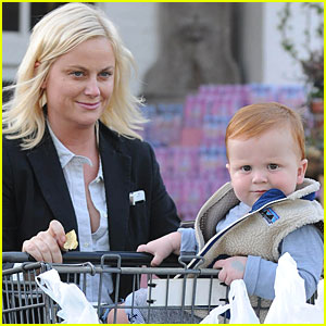 Amy Poehler & Abel: Grocery Shopping!