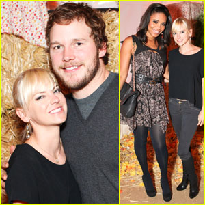 Anna Faris & Chris Pratt: Toast to the Left Coast Party!