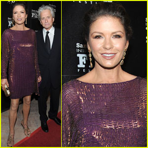 Catherine Zeta-Jones: SBIFF With Michael Douglas!
