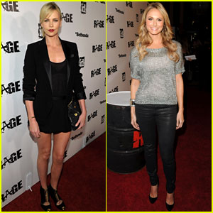 Charlize Theron & Stacy Keib