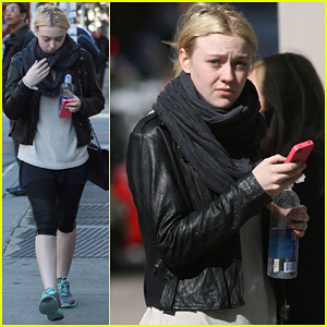Dakota Fanning: Early Morning Workout!