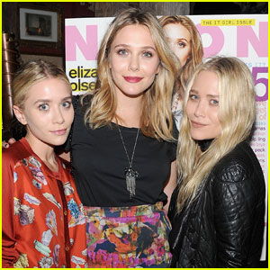 Elizabeth Olsen: 'Nylon' Dinner with Mary-Kate & Ashley!