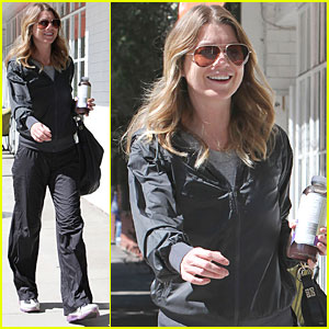 Ellen Pompeo: Workout in Studio City