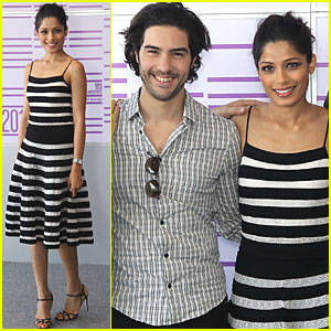 Freida Pinto: 'Black Gold' Photo Call in Qatar!