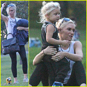 Gwen Stefani & Zuma Play at the