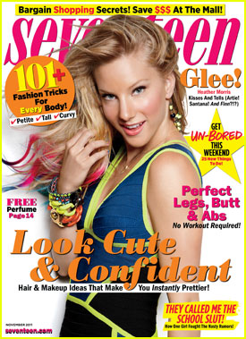 Heather Morris Covers 'Seventeen' November 2011