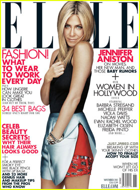 Jennifer Aniston Covers 'Elle' November 2011