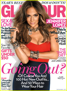 Jennifer Lopez Covers 'Glamour' December 2011