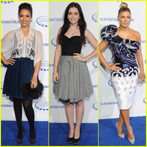 Jessica Alba & Lily Collins: Clinton Foundation Gala!