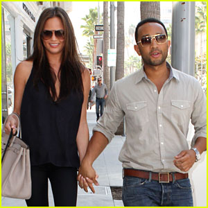 John Legend & Chrissy Teigen: Villa Blanca Lunch!