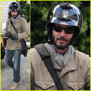 Keanu Reeves: Bike Trouble in Beverly Hills
