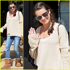 Lea Michele Misses NYC!