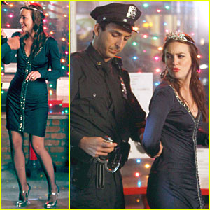 Leighton Meester: Handcuffed on 'Gossip Girl'!